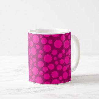 Pink polka dot coffee mug