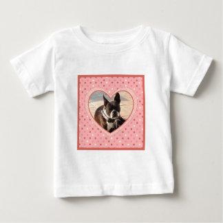 Pink Polka Dot Crosshatch Heart Photo Frame Shirt