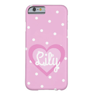 Pink Polka Dot Customisable IPhone 6/6S Case