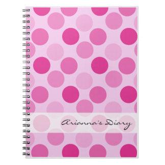 Pink Polka Dot Diary Notebook