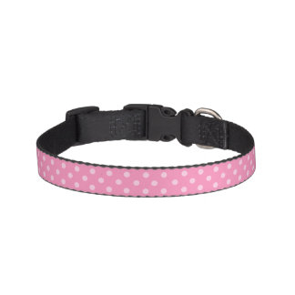 Pink Polka Dot Dog Collar