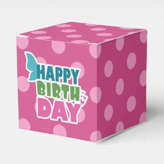 Pink polka dot happy birthday favor box