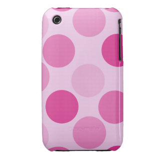 Pink Polka Dot iPhone 3G Case-Mate Barely There iPhone 3 Covers