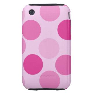 Pink Polka Dot iPhone 3G Tough Case Tough iPhone 3 Covers