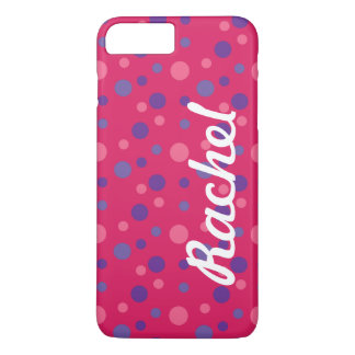 Pink polka dot iPhone 7 Plus case