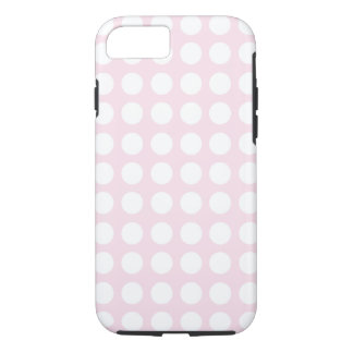 Pink Polka Dot iPhone 7, Tough iPhone 7 Case