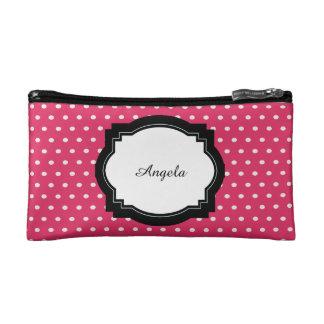 Pink Polka Dot Makeup Bag