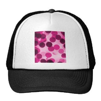 Pink Polka Dot Mesh Hats