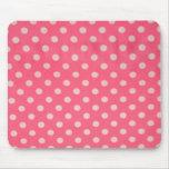 Pink Polka Dot Mousepad