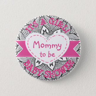 Pink Polka Dot Mummy To Be Its a Girl Pin