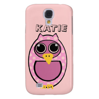 PINK POLKA DOT OWL GALAXY S4 CASE