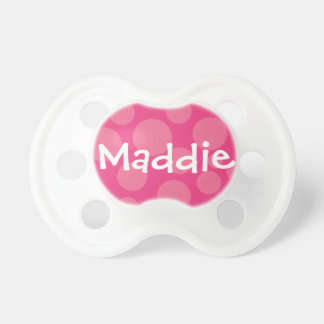 Pink Polka Dot Personalized Pacifier