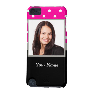 Pink Polka dot photo template iPod Touch 5G Covers