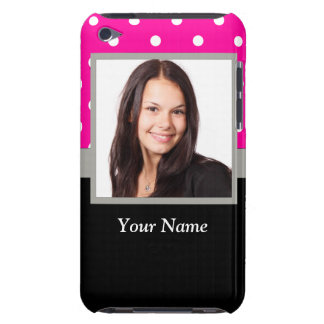 Pink Polka dot photo template iPod Touch Cover