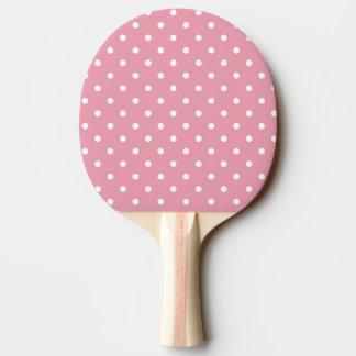 Pink Polka Dot Ping Pong Paddle