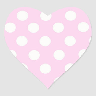 pink polka dot sticker
