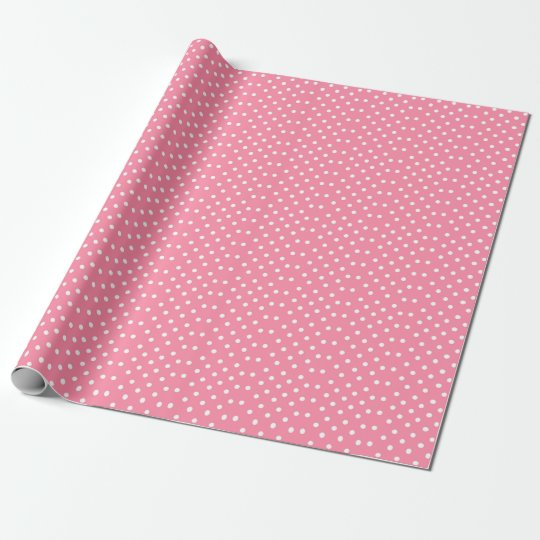 Pink Polka Dot Wrapping Paper   Valentines Day