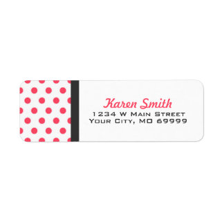 Pink Polka Dots Address Labels