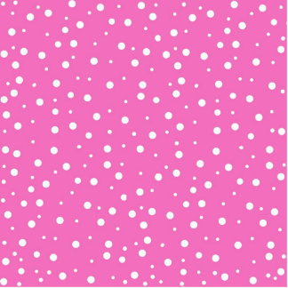 Pink Polka Dots  Background Cut Out