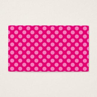 Pink Polka Dots Business Card