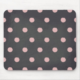 Pink Polka Dots Chalkboard Style Pattern Mouse Pads