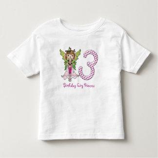 Pink Polka Dots Fairy Princess 3rd Birthday Tee Shirts