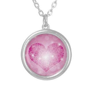 Pink Polka Dots Heart Love Pendant