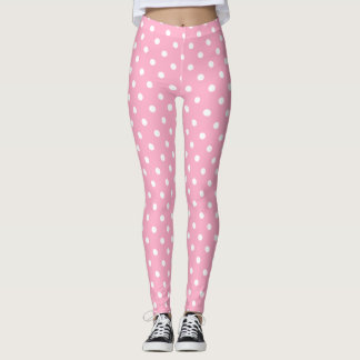 Pink Polka Dots Leggings