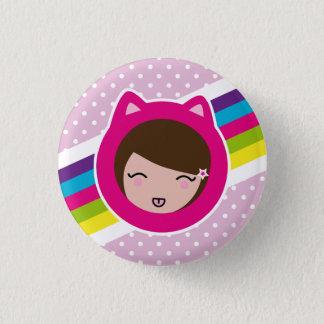 pink polka dots lilith's 3 cm round badge