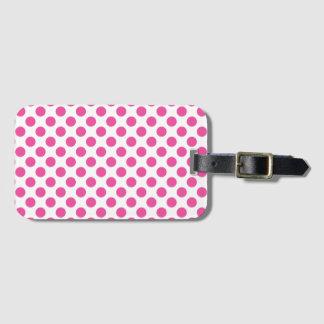 Pink Polka Dots Luggage Tag