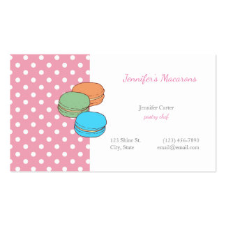 Pink Polka Dots Macaron CUTE KAWAII Macarons Pack Of Standard Business Cards