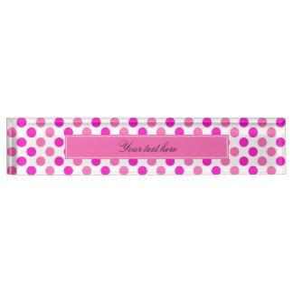 Pink Polka Dots Nameplate