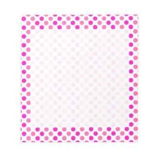 Pink Polka Dots Notepads