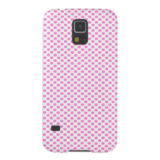 Pink Polka Dots on White Galaxy S5 Case