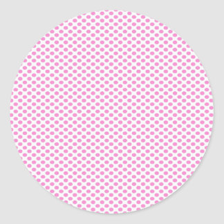 Pink Polka Dots on White Stickers