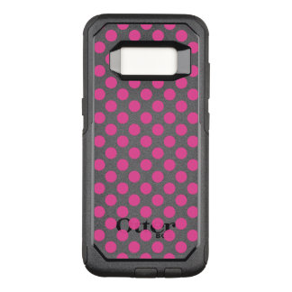 Pink Polka Dots OtterBox Commuter Samsung Galaxy S8 Case
