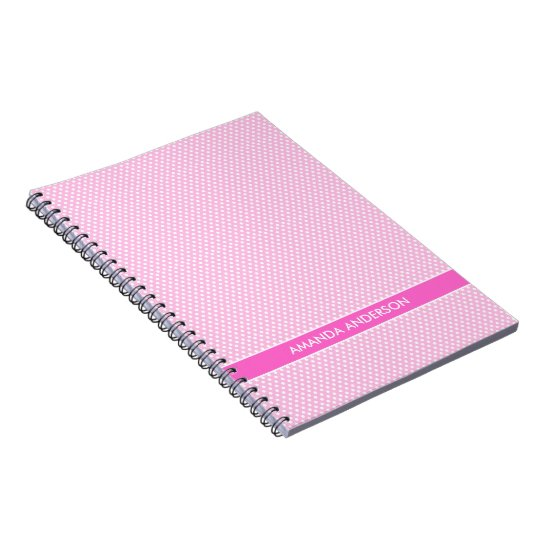 Pink Polka Dots Personalised Notebook / Journal