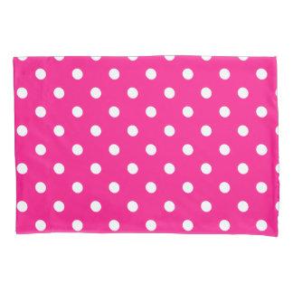 Pink Polka Dots Pillowcase