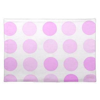 Pink Polka Dots Placemats