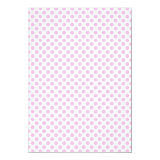 Pink Polka Dots with Customizable Background 13 Cm X 18 Cm Invitation Card