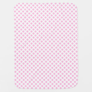 Pink Polka Dots with Customizable Background Baby Blankets