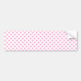 Pink Polka Dots with Customizable Background Bumper Sticker