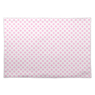 Pink Polka Dots with Customizable Background Place Mat