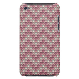 Pink Polka Dots Zig Zag Pattern iPod Case-Mate Cases