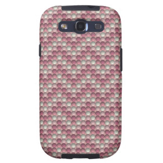 Pink Polka Dots Zig Zag Pattern Samsung Galaxy S3 Cover