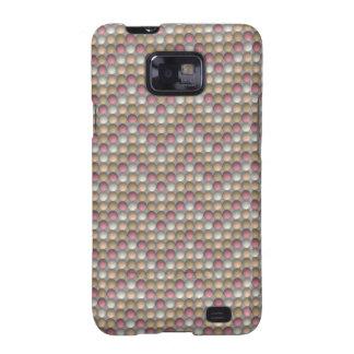 Pink Polka Dots Zig Zag Pattern Samsung Galaxy S2 Cover