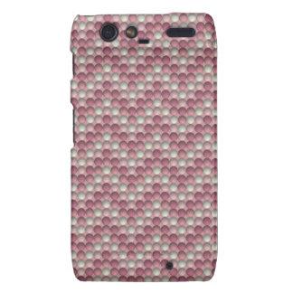 Pink Polka Dots Zig Zag Pattern Droid RAZR Cover