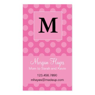 Pink Polka Mommy Card Business Cards