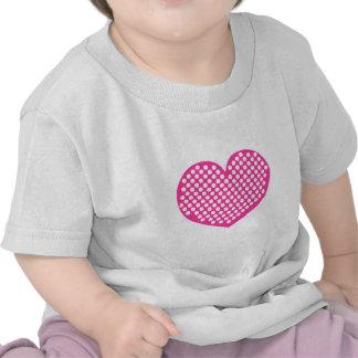 Pink Polkadot Heart T-shirts