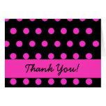 Pink Polkadot thank you Greeting Card